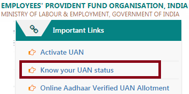 Universal Account number Status